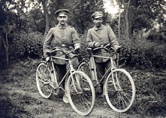 Two NCOs from Inf. Regt. Nr 120 and their bicycles (drakegoodman) Tags: bike bicycle ww1 nco greatwar firstworldwar luger pushbike germansoldiers biberachanderriss dispatchrider
