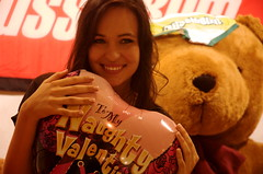 To My Naughty Valentine (badjonni) Tags: girl smile face naughty happy model teddy head balloon valentine aussiebum