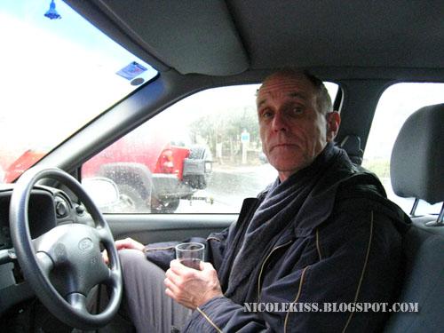 graham in his car