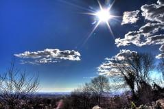 Pecetto hdr (Daduxio) Tags: trees sky cloud sun tree alberi clouds canon torino eos nuvole nuvola cielo 1855mm sole albero turin hdr controluce pecetto 1000d