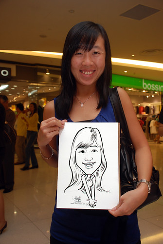 Caricature live sketching for The Cocoa Trees - Part 1 - 11