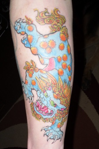 foo dog tattoo · finalkutt_gwavaz