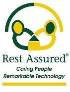 Rest Assured logo.