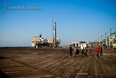 kids on pier