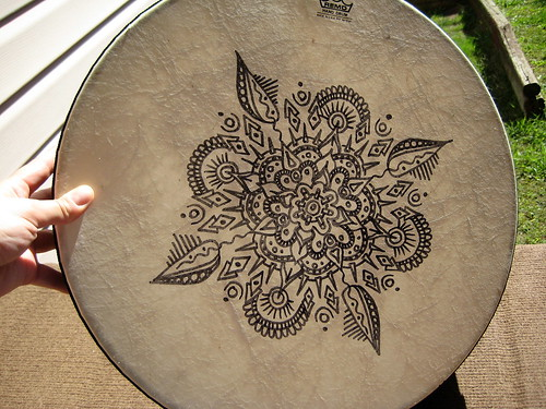 Mandala on Remo Frame Drum