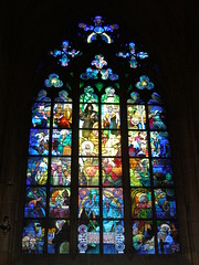 Witra (magro_kr) Tags: art church window prague cathedral praha praga stainedglass artnouveau czechrepublic mucha okno katedra kosciol koci czechy sztuka witraz witra secesja platinumheartawards eskrebublika