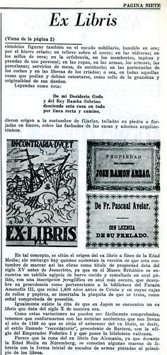 Ex libris. Artículo de A. Jiménez (III)