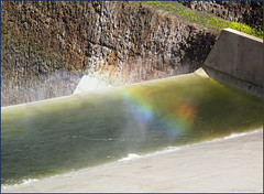 a little rainbow (-Filippos-) Tags: water droplets rainbow dam cyprus reservoir   klirou