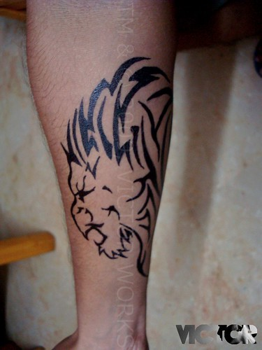 A Tribal Lion Tattoo