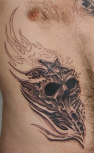 Tattoo on my stomach skull tattoos. Image by Kenneth Nordahl