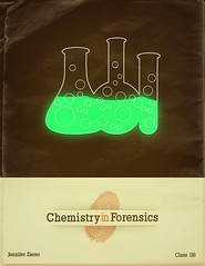 Chemistry in Forensics (Pixel Fantasy) Tags: vintage lab glow bubbles retro chemistry illustrator vector beakers forensics