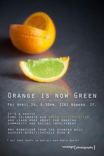 Orange is now Green!