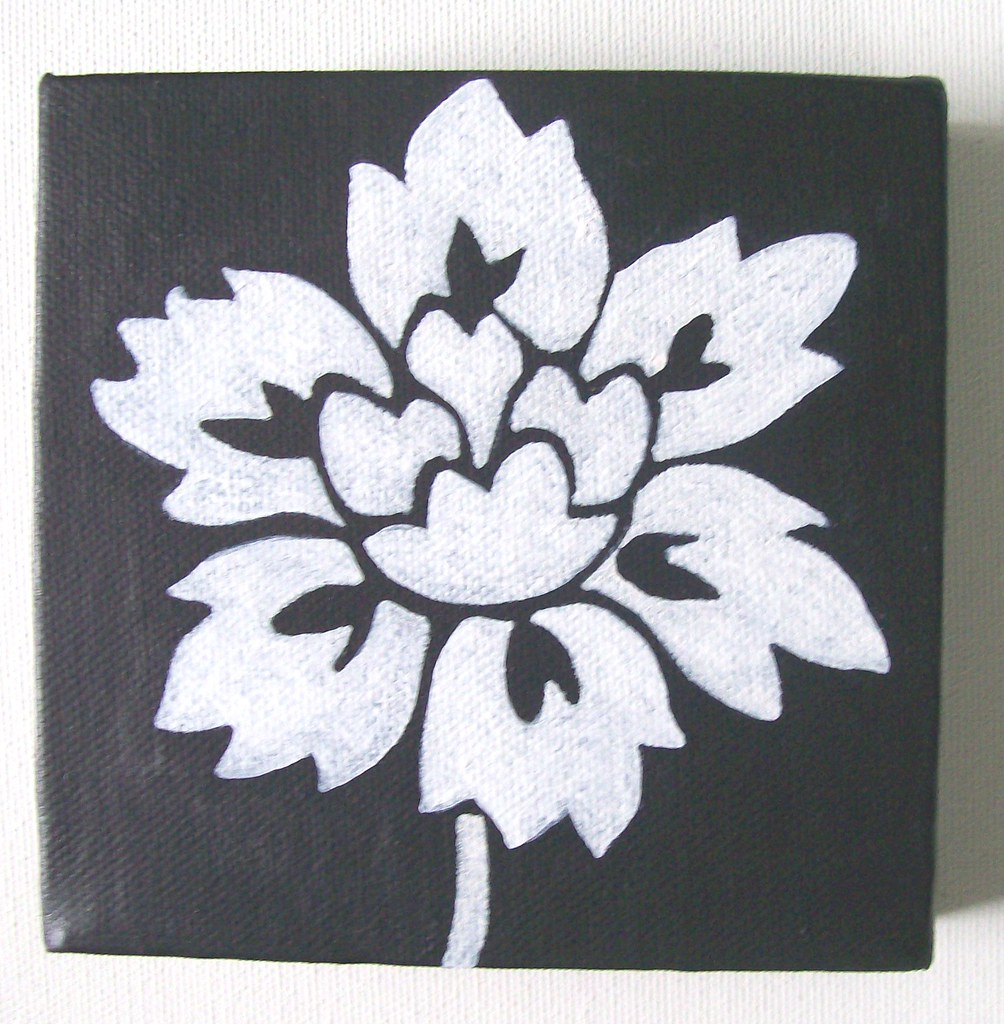 Monochrome Flower - Original Painting