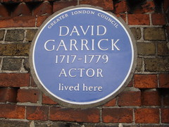 Photo of David Garrick blue plaque