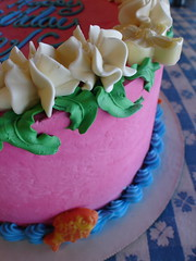 Tropical Island custom birthday cake (Herbert Harper) Tags: ocean birthday pink blue summer orange 6 white fish green girl cake island spring montana bozeman chocolate 5 7 8 bakery sweetpea tropical custom buttercream sweetpea:slideshow=birthday