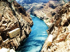 colorado river (apearson611) Tags: blue arizona brown lake mountains river landscape colorado dam nevada hoover mead