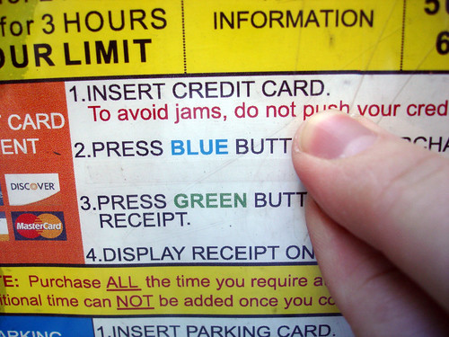 2. Press Blue Butt, 3. Press Green Butt