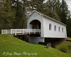 Ritner Creek Bridge (RU4SUN2) Tags: history oregon centraloregon coveredbridges polkcounty kissingbridge polkcountyoregon oregoncoveredbridges ritnercreekbridge