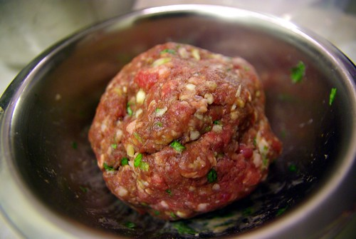 Ball of lamb meat