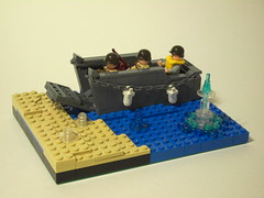 WWII: Landing in Normandy (DarthNick) Tags: classic boat lego space pirates wwii contest craft landing higgins colisseum gladiator lcvp foitsop brickmania