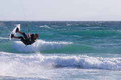 Kite Surfing, Tarifa, Spain (pmorgan) Tags: ocean spain europe mediterranean surfing andalucia kitesurfing atlantic windsurfing recreation tarifa sportsrecreation waterrecreation
