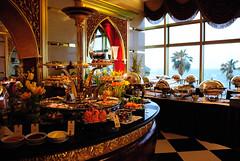 buffet tables... Al Iwan, Burj Al Arab (Simbon) Tags: food restaurant hotel dubai uae middleeast burjalarab buffet decor luxury unitedarabemirates jumeirah     luxuryhotel   arabianpeninsula 7starhotel aliwan towerofthearabs jumeirahgroup sailboathotel          7