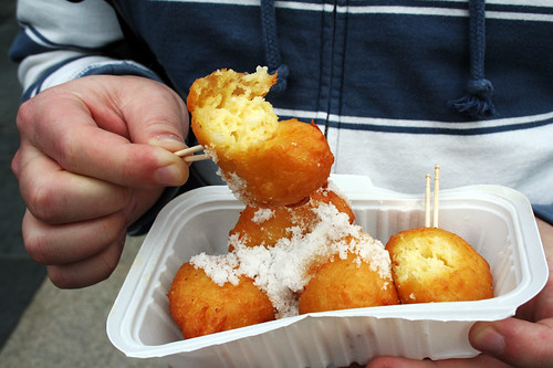 fluffy fried balls with sugar