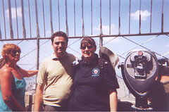 Andrew and Jane at the top of the Empire State Building