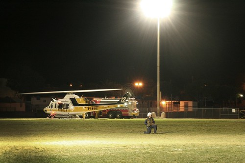 Helicopter at SBJHS