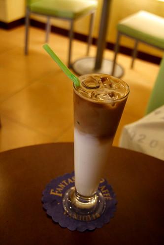 哈密瓜拿鐵冰咖啡