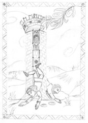 Manesse Tarot - 16 The Tower - 02