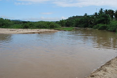 The heavy rains the night before caused this. Naging river.