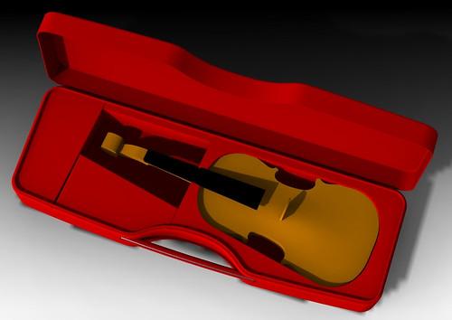 Calder REd violin top w