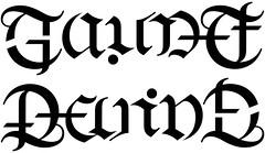 """""""Gaudet"""" & """"Devine"""" Ambigram"""