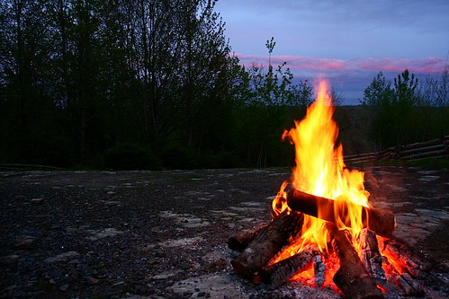 Campfire in NB by Martin Cathrae