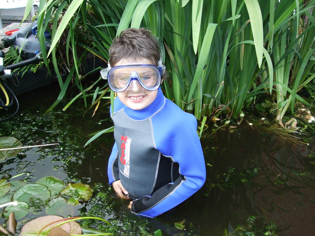 Pond diving?