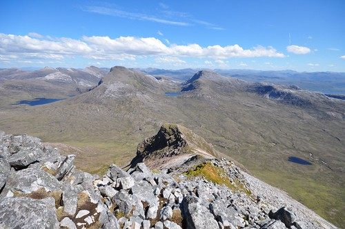 Looking back down to Stuc Coire an Laoigh