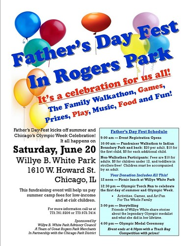 RogersParkFather'sDayFestSATJUNE20Flyer
