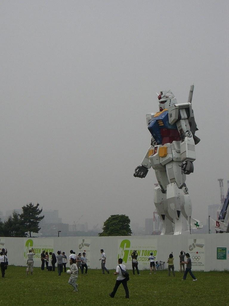 Gundam tamaño real Tokio 5