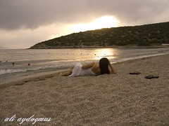 Falling ASleep (aliaydogmus35) Tags: travel light sunset sea summer people sun white holiday art fall beach girl beauty turkey seaside model sand friend dress sleep sandals dream wave romance falling ideas soe kum beah izmir kusadasi aydin plaj mywinners abigfave platinumphoto anawesomeshot theunforgettablepictures thesuperbmasterpiece aliaydogmus natureingirl natureinbeach