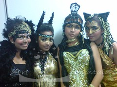 Make Up and Styling (Art Fountain) Tags: animals dance costume colours makeup hairstyle styling headdress
