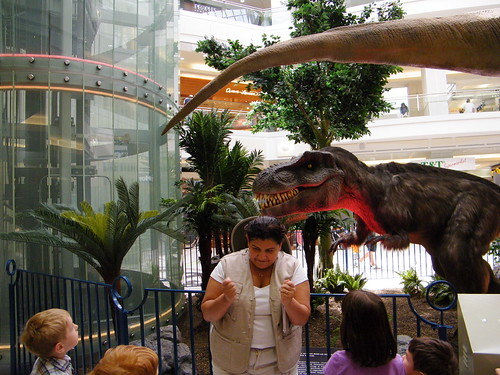 Our Tour Guide & Feathered T-Rex