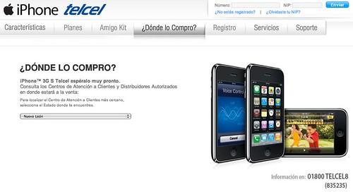 iPhone 3GS telcel méxico