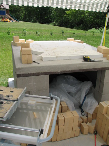 bridge slab with insulation in place