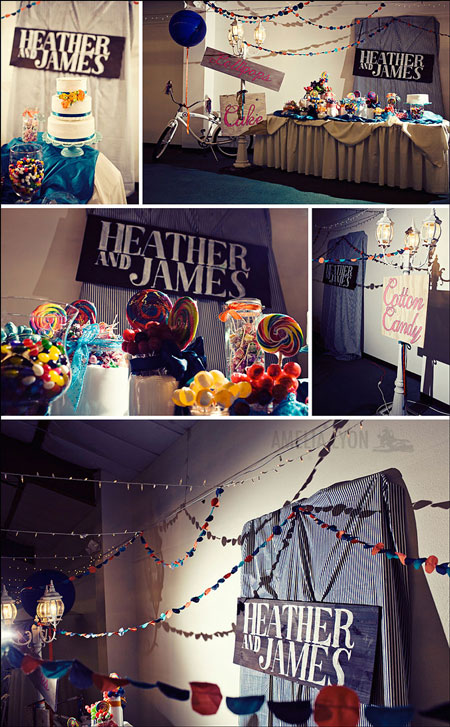 this couple pulled off a vintage circus theme without looking cheesy not