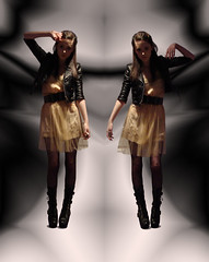 I'd Like To Take Her Home With Me (harder_faster) Tags: leather pose army for belt twins doll dress boots jacket pistol target heels biker slip dolly dollies pleaser 1036 rodarte