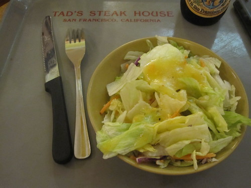 Salad at Tad's Steak House