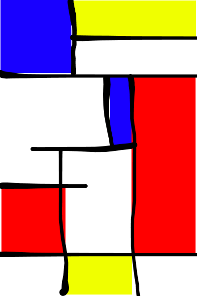 Mohammed (in the style of Mondriaan)