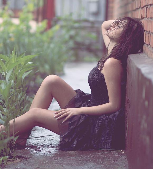 she dreaming...Raining...