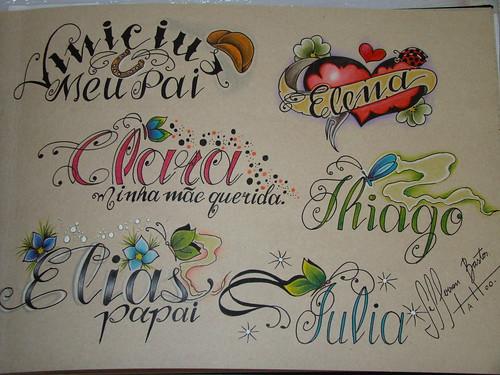 letras tattoo. Letras. Série 2010.